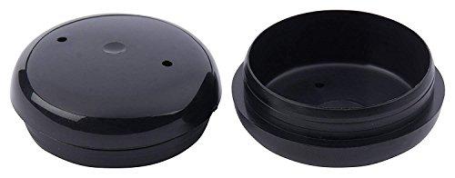 KS) 4pc Black Plastic Wrought Iron Patio Chair Leg Inserts 1.5 Cups Glide - 1 1/2'' Inside Diameter Feet/Cups by KS