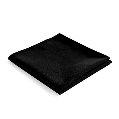 Fortunatever Classical Men's Solid Pocket Square (Black)