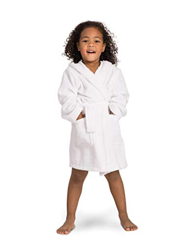 SIORO Kids Robes, Hooded Terry Cotton Bathrobe for Girls and Boys, Shower Spa Bath Sleepwear with Pockets