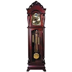 ACME 01408 Aaron Grandfather Clock, Cherry Finish