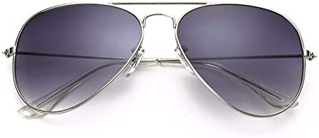 WSKPE Sonnenbrille Aviation Sonnenbrille Männer Farbtöne Silber Sonnenbrille Silver Frame Graue Linse