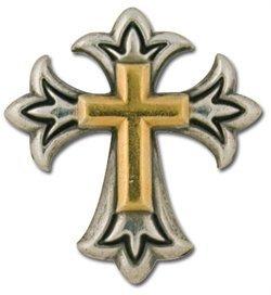 Cross Concho (Tandy Leathercraft Endearing Latin Cross Screwback Concho)