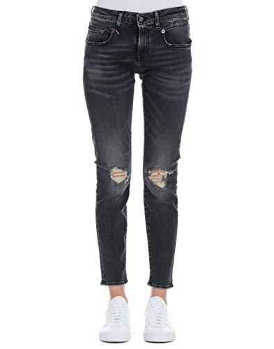 Femme R13 Jeans R13W0086697 Noir Coton qpv8Pxpdw