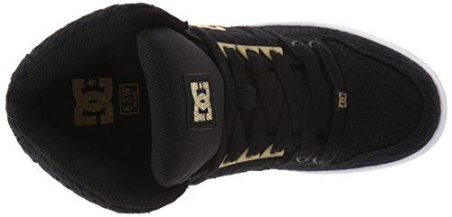 Scarpa Da Skateboard Dc Donna High Tx Se Skate W Nero / Bianco / Oro