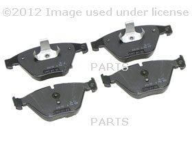 BMW Genuine Front Brake Pads for E60 5 Series - 525i M54 Auto Transmission SEDAN (2002 - 2005), 525xi 530xi 545i 550i 535i 535xi SEDAN (2002 - 2008), E61 5 Series - 530xi 535xi TOURING (2004 - 2008), E65 7 Series - 745i 750i 760i SEDAN (2000 - 2008), 745Li 750Li 760Li SEDAN (2000 - 2008)