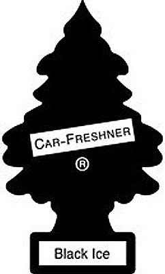 Little Trees Hanging Car and Home Air Freshener, Black Ice (Pack of 3)