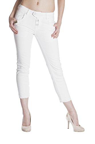 Blue Capri Bianco Pantalone Basic Monkey Donna Jeans w0xtPr0