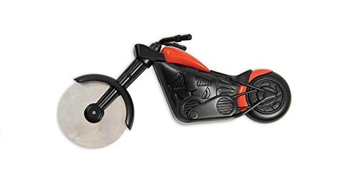 CLSstar Pizza Chopper Motorcycle Motorbike Shaped Pizza Slicer Cutter