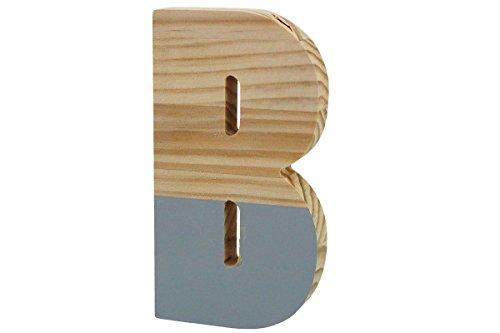 """MDF- Buchstaben /""""HOME/"""" weiß 44,5x2x11cm PVC-Box 1Stück"""