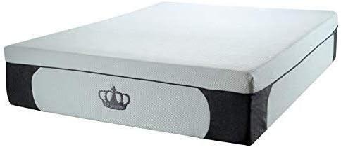 DynastyMattress New 14.5-Inch CoolBreeze Plush Gel Memory Foam Mattress w Free Pillows King