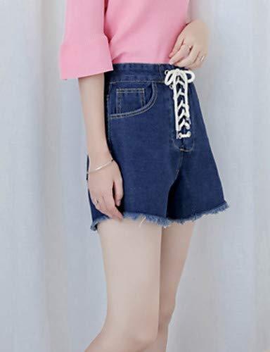 Coulisse Tinta Unita Uomo Yfltz Basici Da Pantaloni In pantaloncini Blue Donna Zwxq61