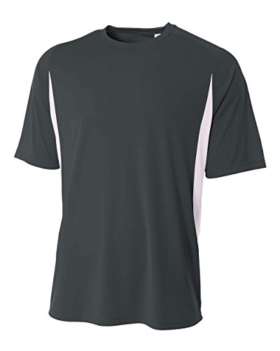 A4 Men's Cooling Performance Color Block Short Sleeve Tee, G