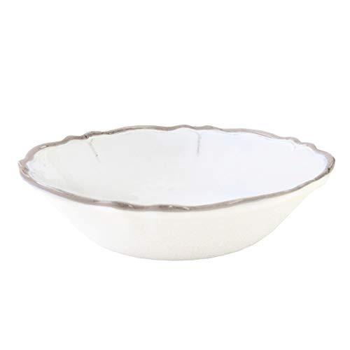 Le Cadeaux Rustica Antique White Melamine Salad/Cereal Bowl - Set of 4