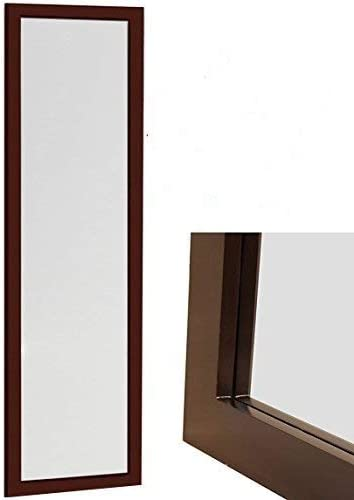 ProDecor Quality Furniture Wood Frame Over The Door Mirror
