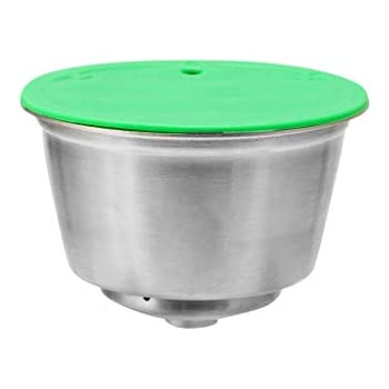 CMrtew ❤ Stainless Steel Coffee Filter Reusable Coffee Capsule Make for Refillable nescafe Dolce Gusto Capsule Cup Cafeteira Caps Tools (Silver, 10ml)