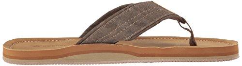 Hamnarbetare Mens Kevin Textural Klassiska Sandal Flip Flop Brun