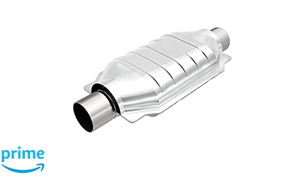 """Magnaflow 99354HM High-Flow Catalytic Converter Round 2/"""" In//Out w// O2 Port"""
