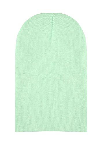 [CEAJOO Knitted Beanie Hat Warm Winter Cap Cuff Beanie Hats for Men Women Fruit Green] (Fruit Hat Lady)