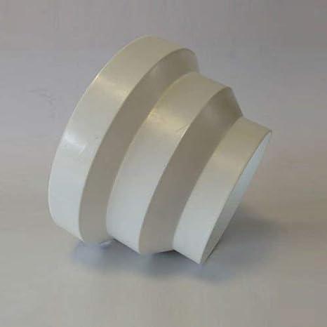 Blauberg UK 6pulgadas 150mm conducto de plástico redondo y accesorios para ventilador Extractor ventilación–Reductor de conductos de 150mm-100mm (6
