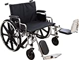 K7 Extra-Wide Wheelchair, 28x20, Elevating Leg Rest, 600 lbs Capacity, Removable Arm Rests, Easy to Clean, Lock