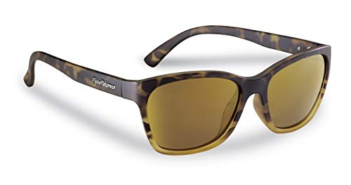 (Flying Fisherman Ripple Polarized Sunglasses for Men and Women. Tortoise Fade Frames and Amber-Gold Mirror Lens with AcuTint UV Blocker for Fishing and Outdoor Sports (Size)