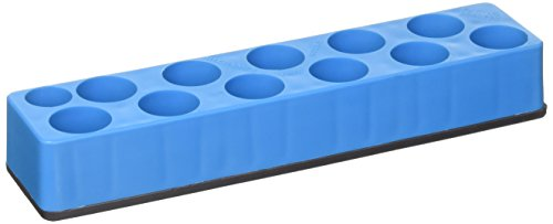 Mechanic's Time Savers MTS980 Socket Holder (3/8 in. Drive Universal Neon Blue 11 Hole Impact 9-19mm)