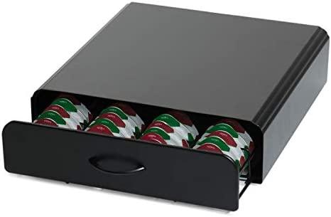 Home Treats Tassimo - Soporte para cápsulas de café Cajón de 64 cápsulas y soporte para máquina. Color negro carbón
