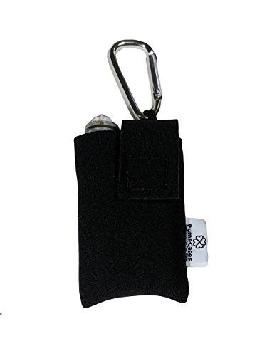2mm Insulated Neoprene Insulin Pump Case w/Carabiner Clip (Medtronic 670G, Black)