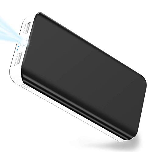 Power Bank 25000mAh Portable Phone Charger Ultra High Capacity External Battery Pack with Dual USB Output & LED Flashlight Compatible with iPhone, iPad, Samsung Galaxy, Smart Phone, Tablet and More