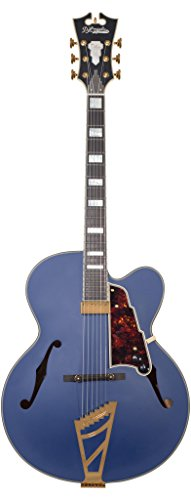 D'Angelico Deluxe EXL-1 Hollow-Body Electric Guitar - Matte Royal (Blues Hollow Body Guitar)