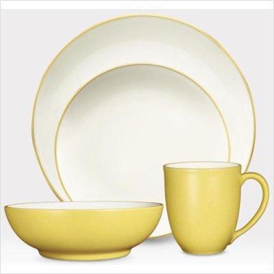 - Colorwave 16 Piece Dinnerware Set Color: Mustard