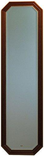 イタリア製 JHAアンティーク風水ミラー シンプル (ブラウン&ゴールド) 八角形W375×H1373 IE-58 八角ミラー 八角鏡 姿見 姿見鏡 壁掛け鏡 ウォールミラー B01KABGXW2ブラウン&ゴールド