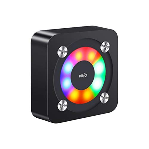 Uonlytech Bluetooth-luidspreker licht kleurrijke draadloze telefoon mini luidsprekers (zwart)