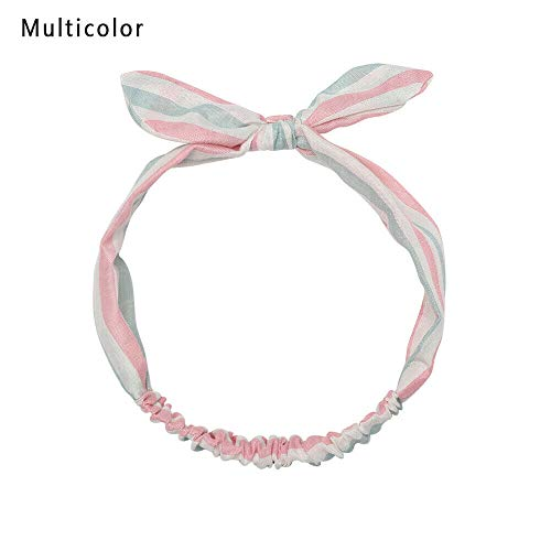Multicolored Bandage Striped Headband Headwrap Turban Elastic Hairband (Color - ()