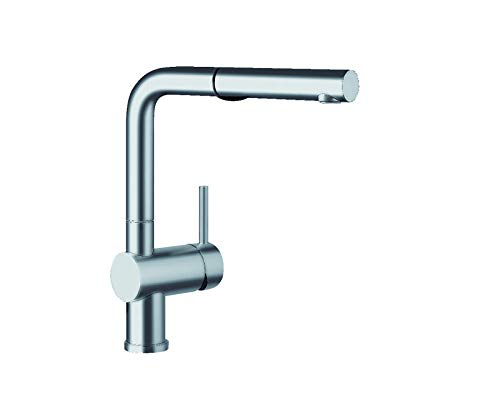 BLANCO 441404 LINUS Pull-Out Dual Spray, 2.2 GPM, Satin Nickel Kitchen Faucet