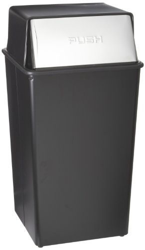 Witt Hamper (Witt Industries 36HT-22 Steel 36-Gallon Monarch Series Hamper and Push Top Receptacle, Legend