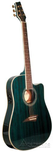 Body Electric/Acoustic Guitar - Transparant Blue (Thin Body Acoustic Electric Guitar)