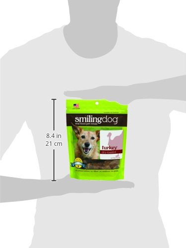 Picture of Herbsmith Smiling Dog Treats – Dry Roasted Turkey – That'S 100% It – Gluten, Grain Free – Made In Usa – 3 Ounce