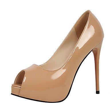 AIURBAG Da donna-Tacchi-Formale-Comoda-A stiletto-Di pelle-Argento Viola Rosso Tessuto almond Carne