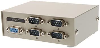 azazaz AB 4 Port Manual RS-232 Share Switch for PC to Serial Device