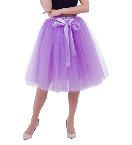 0cee659d77dd5d Lau's Princesse Lavande Tutu Tulle Longue Couches6 Femme Jupe 5 De ...