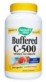 - Nature's Way Buffered C 500 Ascorbate, 250 Capsules ( pack of 2)