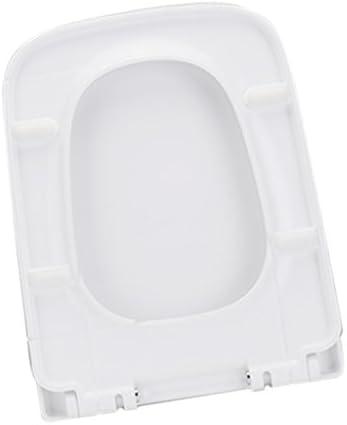 Fenteer 高品質 便座 交換用 ゆっくり閉まる 360度回転可能 ホワイト 全4種選べる - 正方形