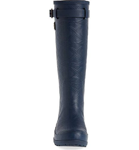 Pendleton Women's Heritage Tall Embossed Solid Boot, Navy, Size 7