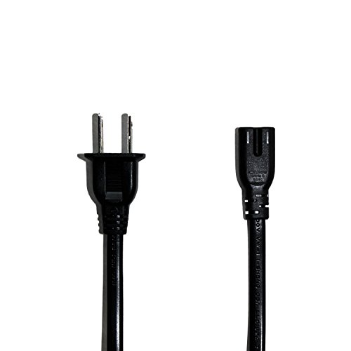 Price comparison product image tekbotic AltPower Xbox One S / PS4 Power cord (5ft) - 7A 125V UL Figure 8 Plug - USA AC Two Prong cable (Black)