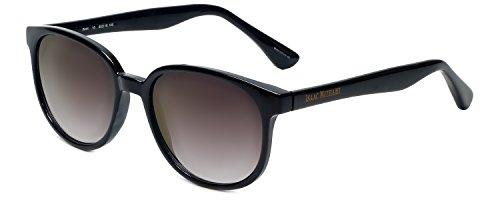 (Isaac Mizrahi Designer Sunglasses IM44-10 in Black with Grey Lenses )