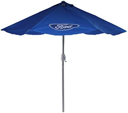 Northlight 9ft Outdoor Patio Ford Umbrella with Hand Crank and Tilt, Blue