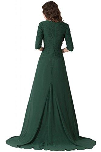 sunvarey elegante gasa Ilusión espalda dama de honor vestidos de vestidos de fiesta Daffodil