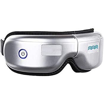 Eye Massager with Heat, Air Compression Bluetooth Music Rechargeable Eye Therapy Massager for Relieve Eye Strain Dark Circles Eye Bags Dry Eye Improve Sleep