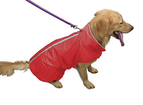 (PETCEE Waterproof Dog Jacket, Soft Fleece Lined Dog Coat for Winter, Outdoor Sports Pet Vest Snowsuit Apparel Double Surface )